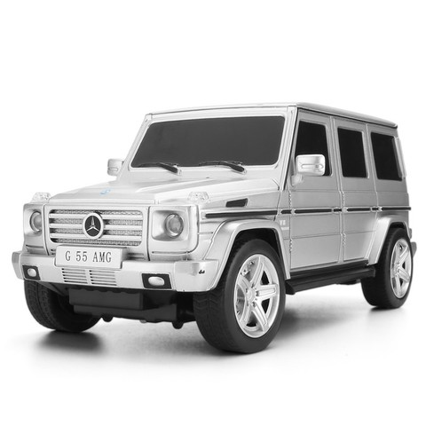 美致模型 遥控车 奔驰G55车 1:24 玩具汽车 银色 27029 59元包邮(2人成团)