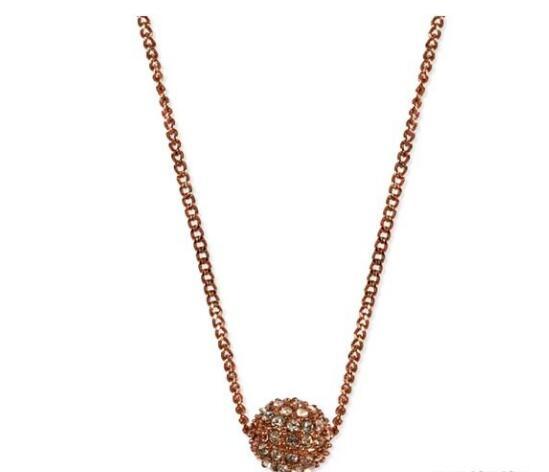 超低价 !Givenchy 纪梵希 玫瑰金彩色星球水晶项链 $19.6(约132元)