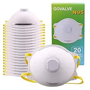 中亚Prime会员: GOVALVE N95 一次性带阀防护口罩 20件装 458元含税包邮