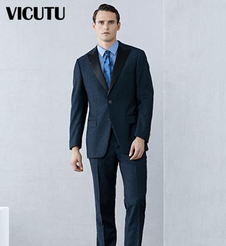 威可多VICUTU 男士纯羊毛西服 200元(需用券)