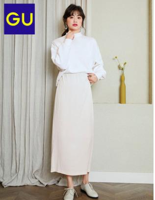 28日0点:GU 极优 GU321105 女士中长裙 49.17元包邮