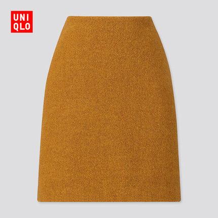 UNIQLO 优衣库 420364 女装羊毛混纺迷你裙 59元