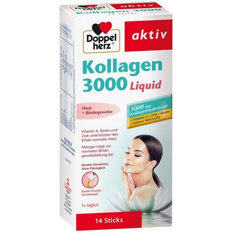 Doppelherz双心 kollagen3000胶原蛋白液 口服 14条售价€7.01(约54元)