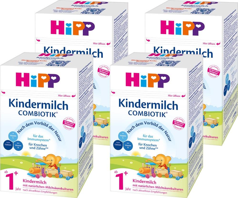 包邮!HiPP 喜宝 有机益生菌婴幼儿奶粉 1+段 600g*4盒装,含税实付€42.81(约¥325)可叠加新人首单9折